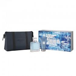 Azzaro Chrome Cofanetto EDT 30 ML+Gel Doccia 50 ML+Toilet Bag